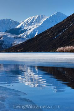 Sugar Loaf Mountain and Lake Pearson in Winter, New Zealand.