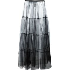 MSGM see-through full skirt ($224) ❤ liked on Polyvore featuring skirts, bottoms, black, msgm skirt, see-through skirts, sheer skirt, msgm and transparent skirt