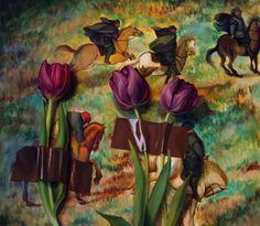 Geraldine O'Neill, Three Tulips, oil on canvas, x 2012 Tulips, Oil On Canvas, Painting, Art, Art Background, Painting Art, Kunst, Paintings, Performing Arts