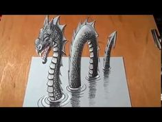 Art Draw 3D - Monter of Lake LockNesh