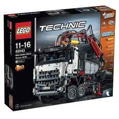 Buy LEGO Technic: Mercedes-Benz Arocs 3245 at Mighty Ape NZ. Climb aboard the awesome Mercedes-Benz Arocs This huge, robust, LEGO® Technic model is packed with authentic details and features. Lego Mercedes, Lego Technic Mercedes Benz, Mercedes Benz Arocs, Lego Technic Sets, Lego Sets, Vw Bus, Legos, Technique Lego, Van Lego
