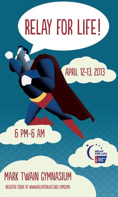 Great  Heroes of Hope theme!  Relay for Life-UMSL by Dawn O'Neall, via Behance
