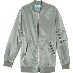 ACNE STUDIOS Varden Tech Jacket ($651) ❤ liked on Polyvore featuring outerwear, jackets, pocket jacket, multi pocket jacket, acne studios, green jacket and oversized jacket