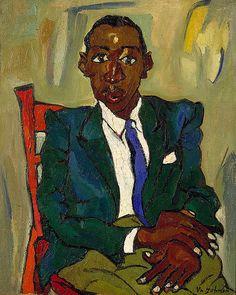 William H. Johnson: Portrait of Fletcher, 1939