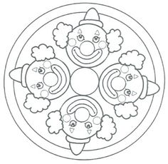 a lot more on the site Colouring Pages, Coloring Books, Clown Crafts, Diy And Crafts, Crafts For Kids, Diy Tie Dye Shirts, Carnival Themes, Theme Noel, Christmas Colors