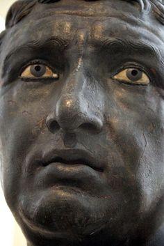 Bronze portrait (1st century BC   Athens