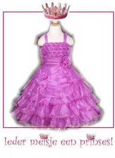 Roze roosjes & ruches jurk