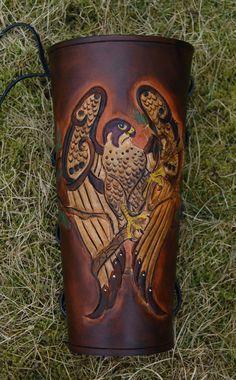 Leather Archery Arm Guard Pattern | Oak Falcon - Leather Archery Arm Guard (Version 2) - January 2013