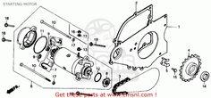 1986 Honda Rebel 250cc Engine Diagram | Honda Cmx250c Rebel 250 1986 Usa Starting Motor - schematic partsfiche