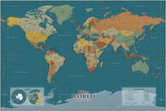 Re pin this laminated 33 x 50 contemporary world wall map with a new century world wall map a modern map with decor styling give this map a beautiful look for any home office or classroom gumiabroncs Images