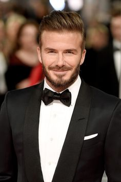 The pure gold flakes that flock to David Beckham's jawline. | The 21 Most Important Beards To Walk The Red Carpet This Year