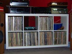 Ranger ses vinyles grâce à Expedit - music room - vynils