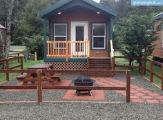 Luxury Camping Cabins in Redwoods of Crescent City, California