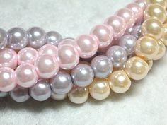 150 8mm Glass Pearls Victorian Mix $5