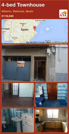 4-bed Townhouse in Alberic, Valencia, Spain ►€119,040 #PropertyForSaleInSpain