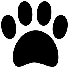 dog paw print silhouette clipart free clip art images craft rh pinterest com dog paw print clip art download dog paw print clip art download