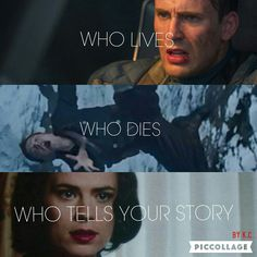 """""""Who Lives, Who Dies, Who Tells Your Story"""", Captain America, Steve Rogers, Bucky Barnes, Winter Soldier, Agent Peggy Carter, Hamilton, Lin-Manuel Miranda, Marvel, MCU."""