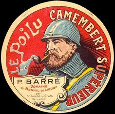 Étiquette de #camembert en #1914. #poilu