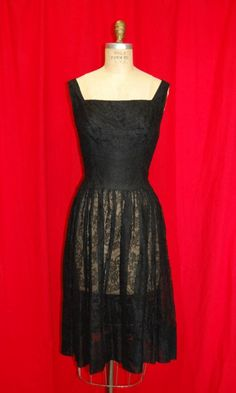 Vintage 1958 Givenchy Black Lace Dress, $500.00 This is one of those times I am happy to be short. I wouldn't alter this dress if my life depended on it.  Ok maybe I would.
