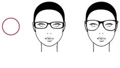 Round faces are accentuated by round glasses that occupy much space in the middle of it. On the contrary, if you want to avoid this effect, look for rectangular glasses that strand out of cheekbones.