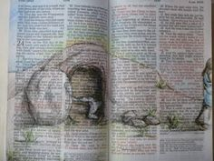 Bible Sketching - empty tomb would be such a cool Easter gift!