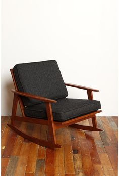 Mid-Century Rocker Chair ~ Urban Outfitters-- love this for the guest ...
