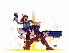 Soldier 76 and Dva Overwatch Comic, Overwatch Memes, Overwatch Fan Art, Overwatch Drawings, V Games, Video Games, Solider 76, Fanart, Gremlins