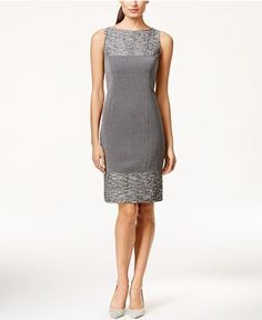 Tahari ASL Colorblocked Ponte Sheath Dress - Dresses - Women - Macy's