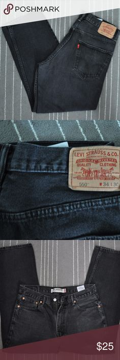 Levi's 550 Relaxed Fit Men's Jeans Color: Black (faded) | Size: 34 x 30 | Condition: Good Levi's Jeans Relaxed