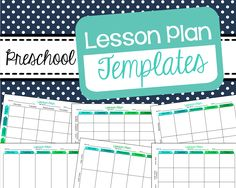 Free preschool lesson plan templates