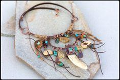 Copper and Antler Talisman necklace: Unique от AnniamAeDesigns