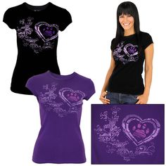 Renaissance Heart Purple Paw Tee..also Black $18.95 funding 14 bowls of food too
