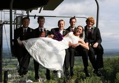 #chairlift wedding photography