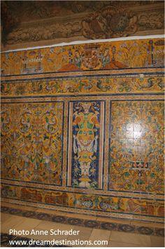 Halls of Carlos V Royal Alcazar, Seville Spain