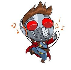 Star lord has great taste in music Chibi Marvel, Marvel Art, Marvel Dc Comics, Marvel Heroes, Marvel Movies, Marvel Avengers, Star Lord, Comic Character, Character Design