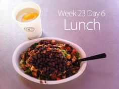 July 15th 2013 - W23D6 Lunch - Chipotle chicken and black bean burrito bowl. No rice. No cheese.