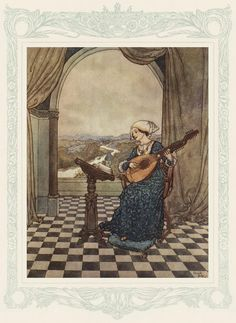 """THE WIND'S TALE  """"She played upon the ringing lute, and sang to its tones.""""  . . . page 225."""