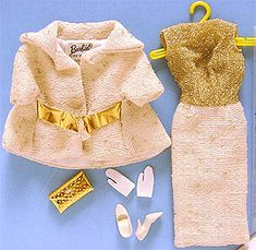Outfit Barbie On the avenue Vintage Barbie Clothes, Doll Clothes, Barbie Wardrobe, Barbie Outfits, Barbie Accessories, Dress With Cardigan, Other Outfits, Barbie Friends, Girls Sweaters