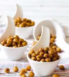 Roasted Chickpeas - A bold and crunchy snack that is waistline-friendly. Roasted Chickpeas are my new best friend as we close in on summer vacation.