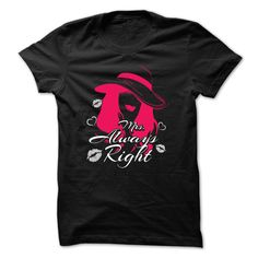 (New Tshirt Deals) Happy Couple T-shirt Mrs. Always Right [Tshirt Facebook]…