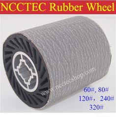44.67$  Watch now - http://ali821.shopchina.info/go.php?t=32373099398 - grit 120 NCCTEC Stainless steel wire drawing RUBBER wheel brush with aluminum core   install 1 pcs of white sand sanding belt 44.67$ #magazineonlinebeautiful