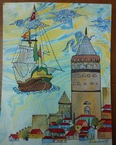 Ebru Kömürel Bursali minyatür galata