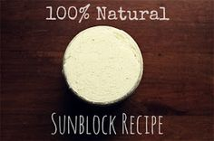 The Everything Soap Blog: 100% Natural Sunblock Recipe