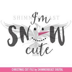 Winter SVG Cut File  I'm Snow Cute svg  Snowman svg