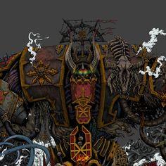 Warhammer 40k Memes, Warhammer 40000, Blood Magick, Chaos Lord, Far Future, The Grim, Space Marine, Concept Art, Sci Fi