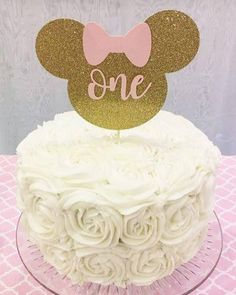 Minnie Mouse Cake Topper Minnie Smash cake Topper First