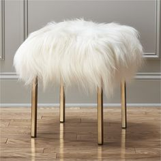 CB2 Sheepskin Stool... Think I can make this..