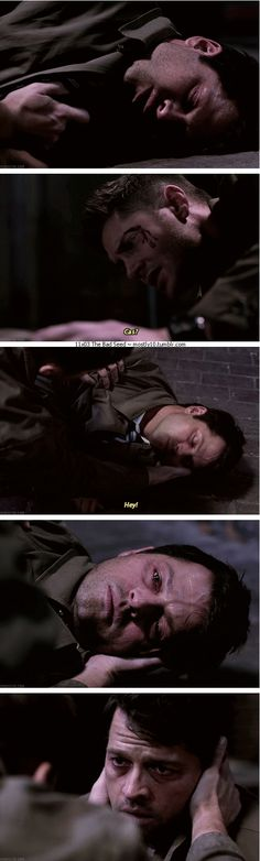 11x03 The Bad Seed [gifset] - Castiel and Dean Winchester; Supernatural