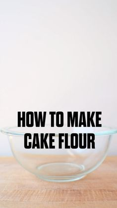 This cake flour recipe will let you make a cake flour substitute in no time. Great for holiday baking or anytime you're in a pinch! substitute How to Make Cake Flour Baking Secrets, Baking Tips, Baking Recipes, Cake Recipes, Healthy Recipes, Lunch Recipes, Healthy Food, Kids Baking, Thai Recipes