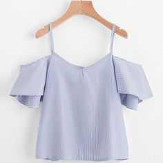 Cheap blouses summer, Buy Quality summer tops directly from China ladies blouses Suppliers: FEITONG 2019 Women Summer Blue Striped Pinstripe Blouse Cold Shoulder Top slash neck blue fashion ladies blouses summer tops Off Shoulder Shirt, Off Shoulder Tops, Cold Shoulder, Shoulder Cut, Stripes Fashion, Blue Fashion, Women's Fashion, Fashion 2018, Ladies Fashion